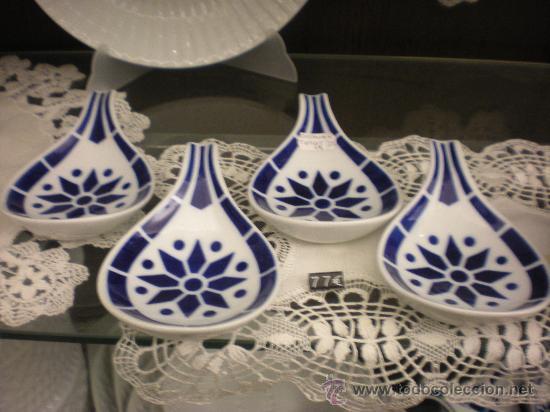 Antigüedades: Juego de 4 platos tapas ROS n º1 (13x9 cm) de Sargadelos sin estrenar. En . - Foto 3 - 29256662