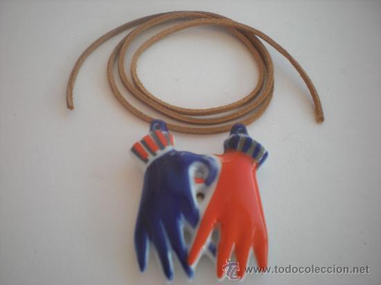 Antigüedades: FETICHE COLGANTE BIMAN (Grande) con cordon de seda y cierre de plata DE SARGADELOS. - Foto 3 - 29529061