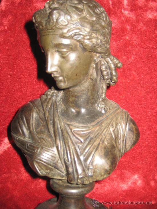 Antigüedades: Busto de dama isabelino en bronce - Foto 2 - 29629097