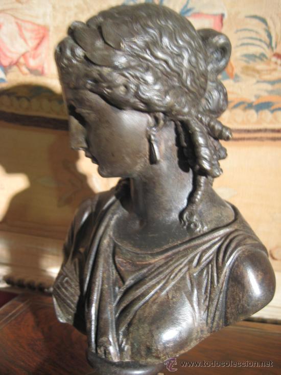 Antigüedades: Busto de dama isabelino en bronce - Foto 9 - 29629097