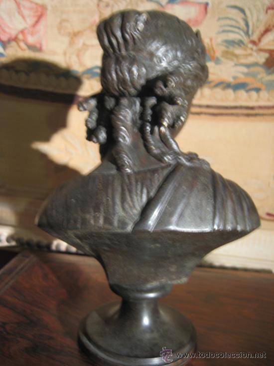 Antigüedades: Busto de dama isabelino en bronce - Foto 10 - 29629097