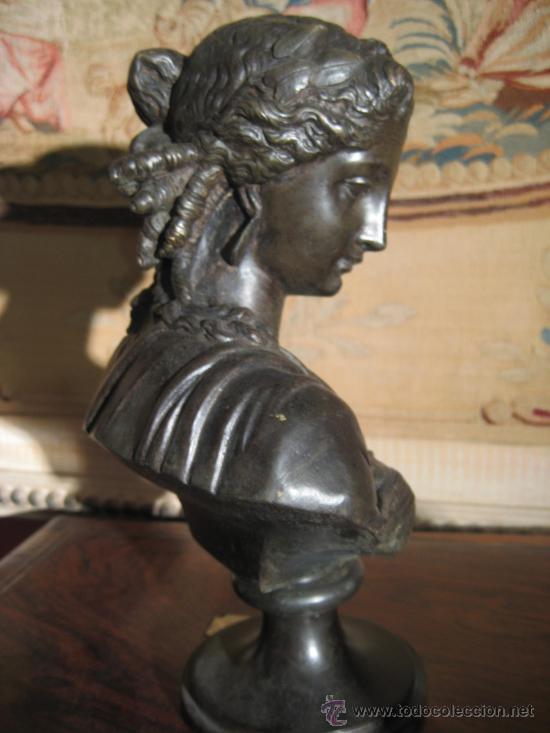 Antigüedades: Busto de dama isabelino en bronce - Foto 7 - 29629097