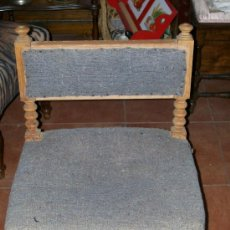 Antigüedades: SILLA BAJA TORNEADA. Lote 29632180