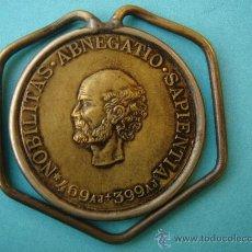 Antigüedades: GUARDABILLETES O BILLETERO CON MEDALLA CONMEMORATIVA DE ROCHE (ASTRÓNOMO FRANCÉS) 1896. MUY ESCASO.. Lote 29636140