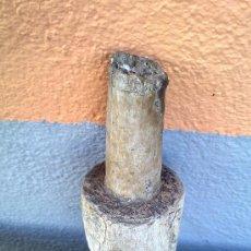 Antigüedades: ANTIGUA MAZA EN MADEREA, HECHA A MANO. Lote 29647313