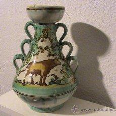 Antigüedades: ORIGINAL JARRÓN CERÁMICA PUENTE DEL ARZOBISPO. Lote 29701003