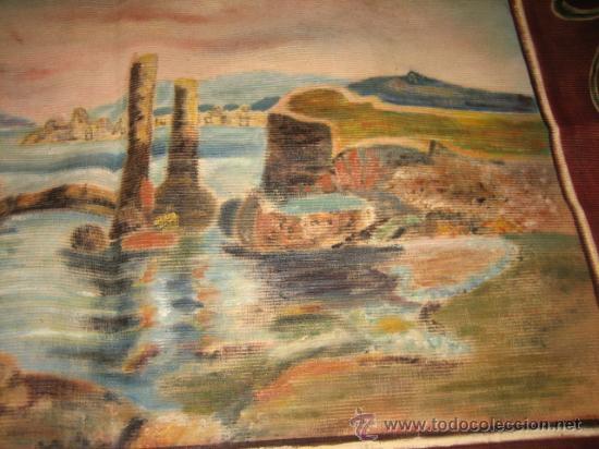 Antigüedades: TAPIZ ESCENA MARINERA - Foto 4 - 29663600