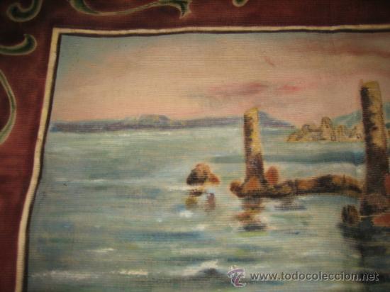 Antigüedades: TAPIZ ESCENA MARINERA - Foto 5 - 29663600