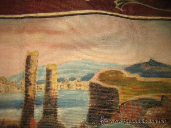 Antigüedades: TAPIZ ESCENA MARINERA - Foto 6 - 29663600