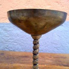 Antigüedades: PRECIOSA COPA DE METAL O ALPACA. Lote 29676375