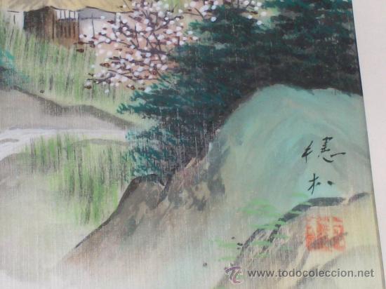 Antigüedades: CUADRO PINTURA CHINA - Foto 4 - 29653865