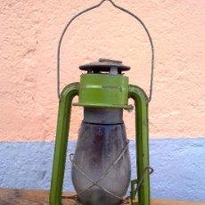 Antigüedades: BONITO FAROL EN COLOR VERDE.. Lote 29689150