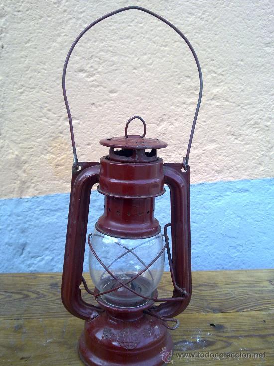 BONITO FARON EN COLOR ROJO. (Antigüedades - Iluminación - Faroles Antiguos)
