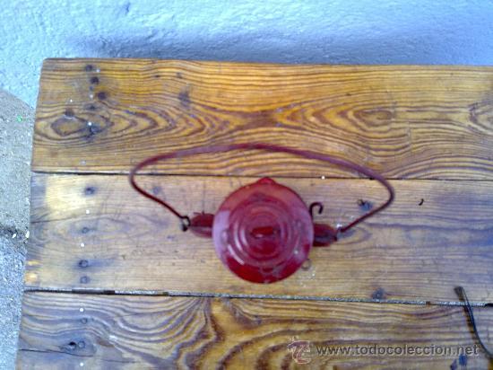 Antigüedades: BONITO FARON EN COLOR ROJO. - Foto 2 - 29689230