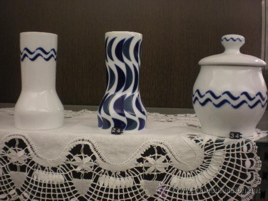 Antigüedades: VASO F. B BONAVÁLICO, VASO DE BAÑO Y ALGODONERA.--- - Foto 7 - 45627287