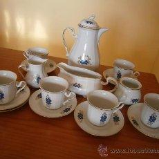 Antigüedades: LIQUIDACION. JUEGO TE-CAFE TETERA BAVARIAN PORZELLAN KÖNIGLICHES. ERIKA. HAND PAINTED. EXCELENTE.. Lote 29708204