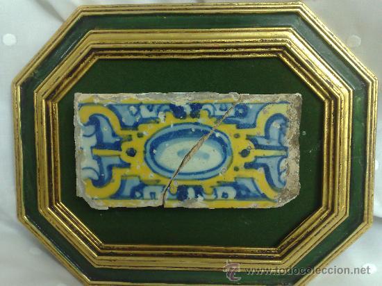 Antigüedades: SIGLO XVII-XIX. PEQUEÑO AZULEJO DE ÉPOCA, ENMARCADO. - Foto 10 - 29723649