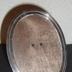 Antigüedades: (H) MARCO PORTA FOTO PLATA CON CONTRASTE MEDIDAS 9 X 12 CM. Lote 29721002