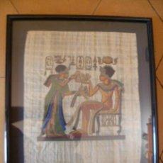 Antigüedades: BONITO PAPIRO EGIPCIO ENMARCADO. Lote 29728901