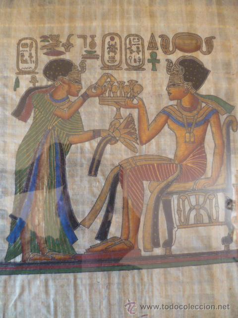 Antigüedades: BONITO PAPIRO EGIPCIO ENMARCADO - Foto 2 - 29728901