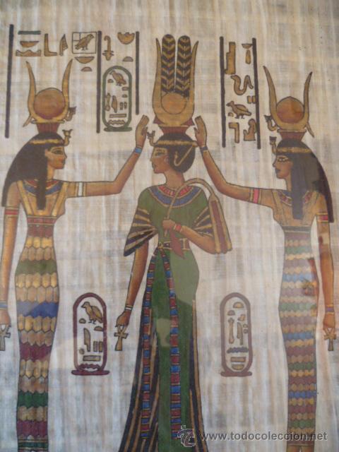 Antigüedades: BONITO PAPIRO EGIPCIO ENMARCADO - Foto 2 - 29728908