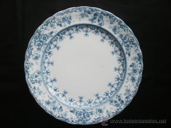 EXCELENTE PLATO WARWICK S.H. & S., COLOR VERDE. (Antigüedades - Porcelanas y Cerámicas - Inglesa, Bristol y Otros)