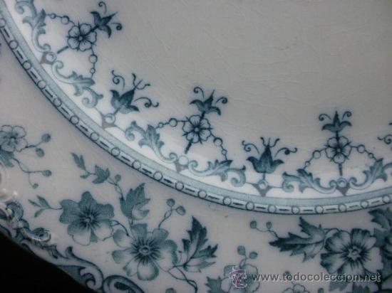 Antigüedades: Excelente plato Warwick S.H. & S., color verde. - Foto 2 - 29730740