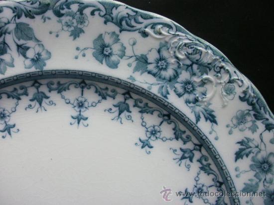 Antigüedades: Excelente plato Warwick S.H. & S., color verde. - Foto 3 - 29730740
