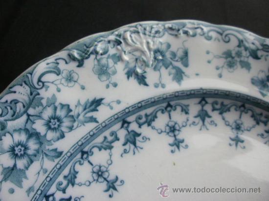 Antigüedades: Excelente plato Warwick S.H. & S., color verde. - Foto 4 - 29730740