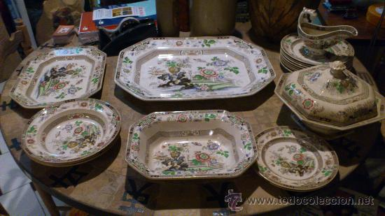 Antigua vajilla rosa china comprar botijos jarras for Vajilla rosa
