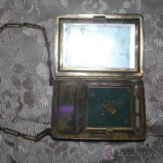 Antigüedades: PRECIOSO JUEGO TOCADOR PARA VIAJE EN METAL DORADO - FIN. S.XIX - PRINC. S.XX. Lote 29759890