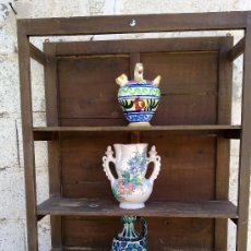 Antigüedades: ANTIGUA ESTANTERIA RUSTICA EN MADERA.. Lote 29777189