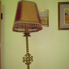 Antigüedades: LAMPARA DE HIERRO FORJA. Lote 29784455