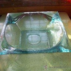 Antigüedades: PRECIOSO CENTRO DE MESA DE CRISTAL DE MURANO PRENSADO AÑOS 70 GRANDE Y MUY GRUESO. Lote 29808918