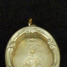 Antiquités: RELICARIO ANTIGUO EN ALUMINIO, SIN LA RELIQUIA. . Lote 87092278