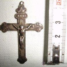 Antigüedades: APRECIADO CRUCIFIJO EN PLATA DE LEY / FINALES S. XIX. Lote 29838679