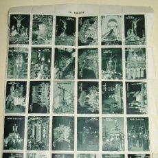 Antigüedades: COLECCIÓN COMPLETA VIÑETAS TIPO SELLO DE LA SEMANA SANTA MALAGUEÑA. MÁLAGA 30 SELLOS. ANTIGUO. . Lote 29841687