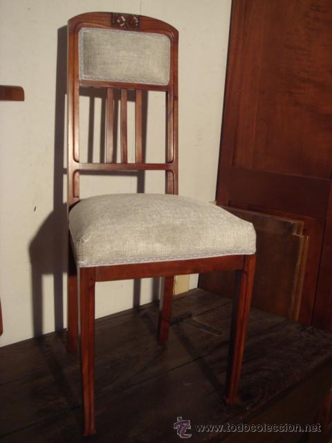 Antigua silla modernista en madera de caoba r comprar - Sillas antiguas de madera ...