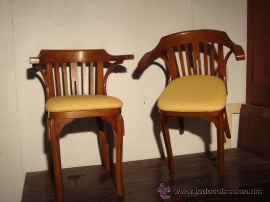 Antiguo par de sillones estilo thonet restaur comprar for Sillones antiguos tapizados