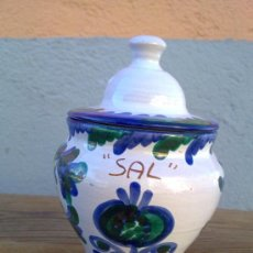 Antigüedades: PRECIOSO SALERO EN CERAMICA FAJALAUZA.. Lote 29874989