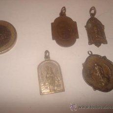 Antigüedades: LOTE MEDALLAS RELIGIOSAS. Lote 29875138