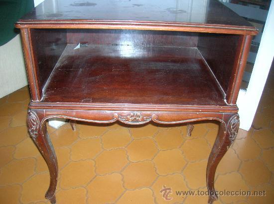 Mesa auxiliar madera de haya color caoba comprar - Ver muebles antiguos ...