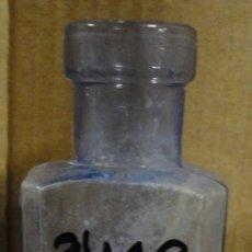 Antigüedades: FRASCO DE FARMACIA, VIDRIO AZULADO, 14 CM. Lote 29912471