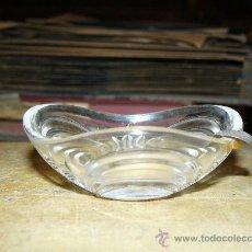 Antigüedades: CENICEROS DE CRISTAL TALLADO Y PLATA. Lote 29914524