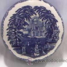 Antigüedades: ANTIGUA TAPA DE PORCELANA DE TARRO JOHNSON & BROSS. Lote 29914854