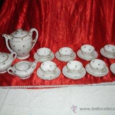 Antigüedades: FINO JUEGO DE CAFÉ EN PORCELANA / S. XX. Lote 30001197