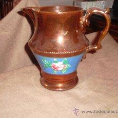 Antigüedades: PRECIOSA JARRA DE REFLEJOS DE BRISTOL. Lote 29923696