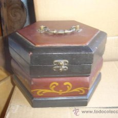 Antigüedades: CAJA DE MADERA EXAGONAL. Lote 29944604