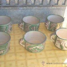 Antigüedades: 6 TAZONES DE CERAMICA. Lote 29945513