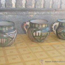 Antigüedades: 3 TAZONES DE CERAMICA ESPAÑOLA. Lote 29945544